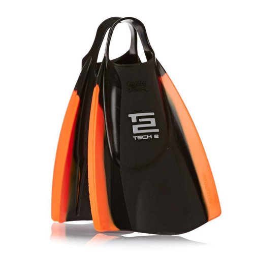 HYDRO HYDRO TECH 2 SWIM FINS, BLACK/ORANGE, LG (SZ 10/11)