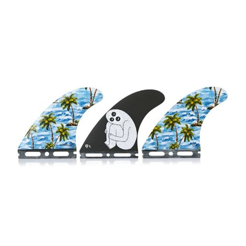 GORILLA SLOTH PALM TREND SHANK FUTURES TRI FIN SET L