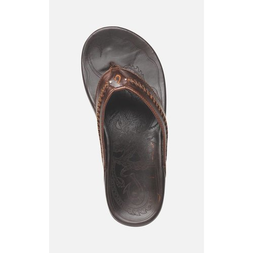 OLUKAI MEA OLA MENS SANDALS, DARK JAVA