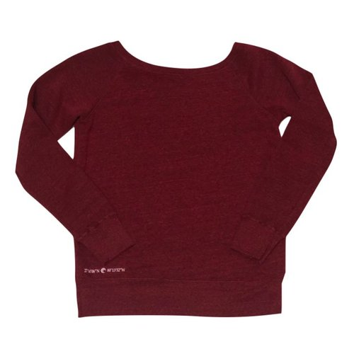 LADIES WIDE NECK SWEATSHIRT