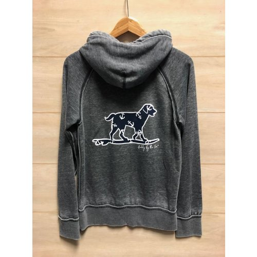 BUDDY BY THE SEA DISTRESSED SWEATSHIRT W/ ANCHOR DOG