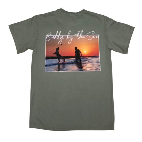 BUDDY BY THE SEA BUDDY SUNSET S/S TEE, GREEN