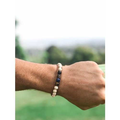 "LOTUS AND LUNA ""BOULDER CANYON"" MENS SINGLE WRAP BRACELET"
