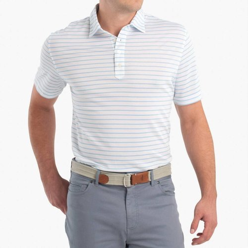JOHNNIE-O CAY PREP-FORMANCE POLO, WHITE
