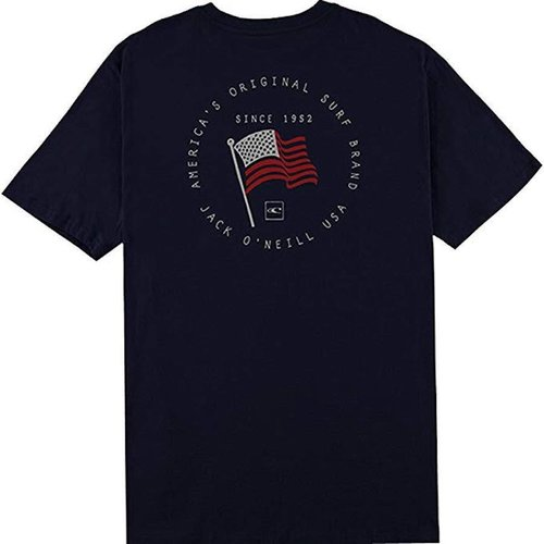ONEILL MENS ON DECK MENS T-SHIRT, NAVY