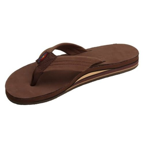 DOUBLE LAYER LEATHER MENS SANDALS, EXPRESSO