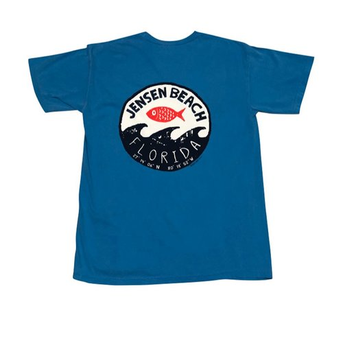 BIG HED STAMP WAVE S/S TEE, JENSEN