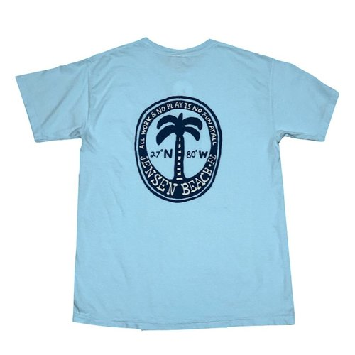 BIG HED DUSTY PALM S/S TEE, JENSEN BEACH