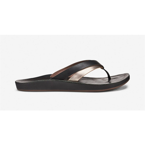 OLUKAI KAEKAE LADIES SANDALS, BLACK/SILVER