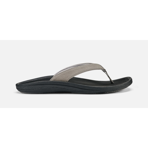 OLUKAI KULAPA KAI LADIES SANDALS, FOG/BLACK