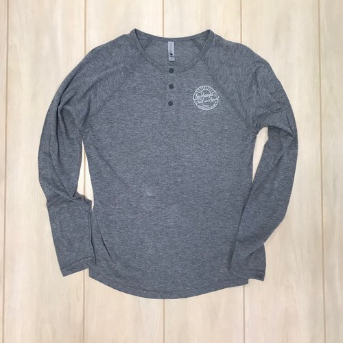 COWABUNGA SEASIDE L/S HENLEY, HEATHER GREY