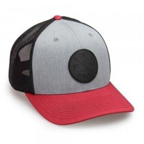 FATHOM OFFSHORE PILLER CAP TRUCKER HAT, CARDINAL