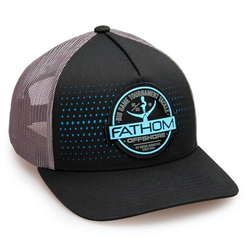 FATHOM OFFSHORE CHANNEL TRUCKER HAT, BLACK