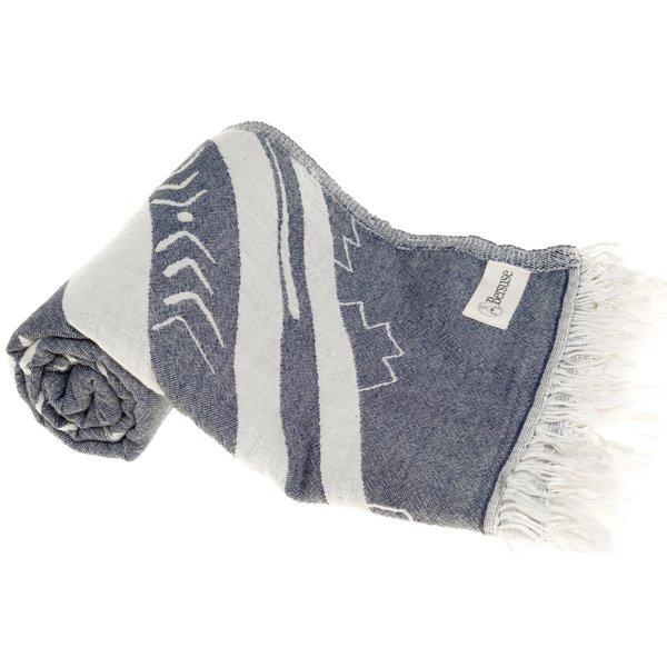 KONA ORGANIC TURKISH TOWEL, DK BLUE 37 X 70