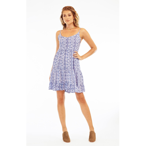 TIARE HAWAII THE SPRING DRESS, CRYSTAL BLUE NAVY