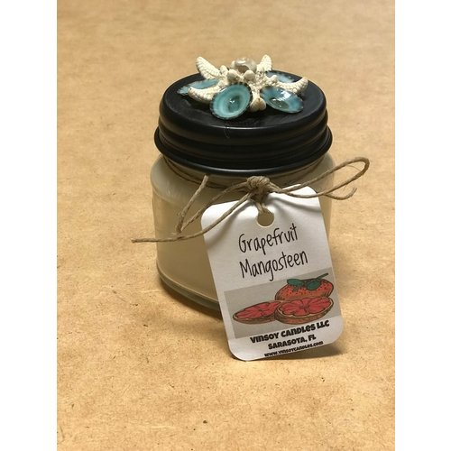 VINSOY CANDLES HANDMADE CANDLE, GRAPEFRUIT MANGOSTEEN