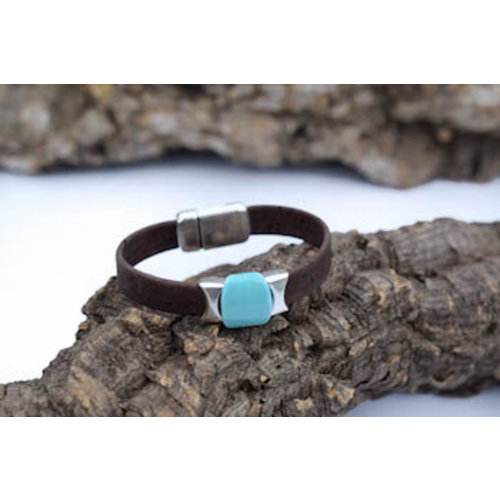 CORK TREE DESIGNS SHELBY II DARK CORK BRACELET, 7""