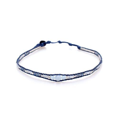 "LOTUS AND LUNA ""DECEMBER MOON"" CHOKER / DOUBLE WRAP BRACELET"