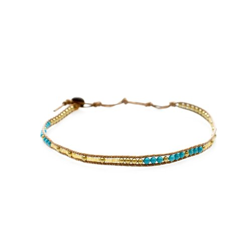 "LOTUS AND LUNA ""CAKE BY THE OCEAN"" CHOKER / DOUBLE WRAP BRACELET"