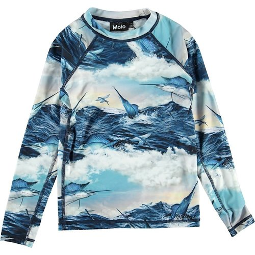 MOLO JUMPING SWORDFISH L/S RASH TOP