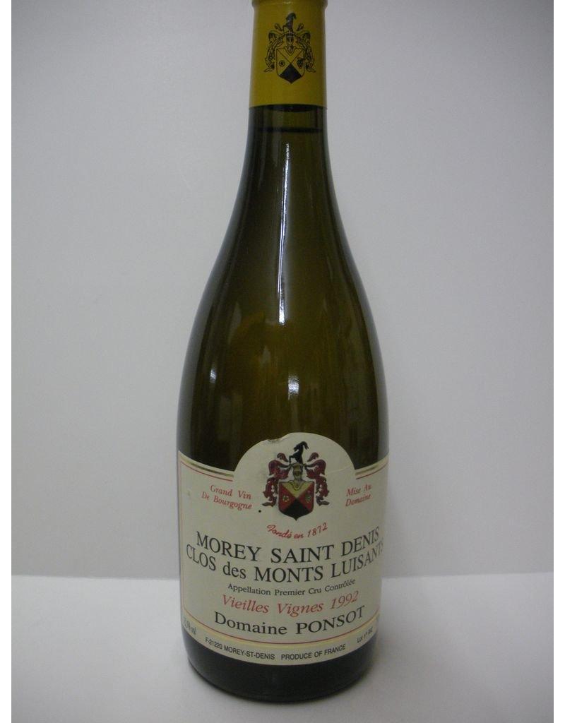 Dom Ponsot Clos des Monts Luisants Morey St Denis VV 92