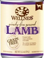 Wellpet LLC Wellness Dog GF 95% Lamb K9 13.2oz