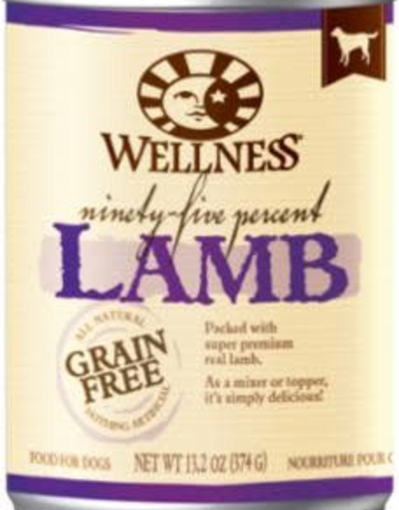 Wellpet LLC Wellness Dog GF 95% Lamb K9 13.2oz