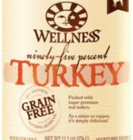 Wellpet LLC Wellness Dog GF 95% Turkey K9 13.2z