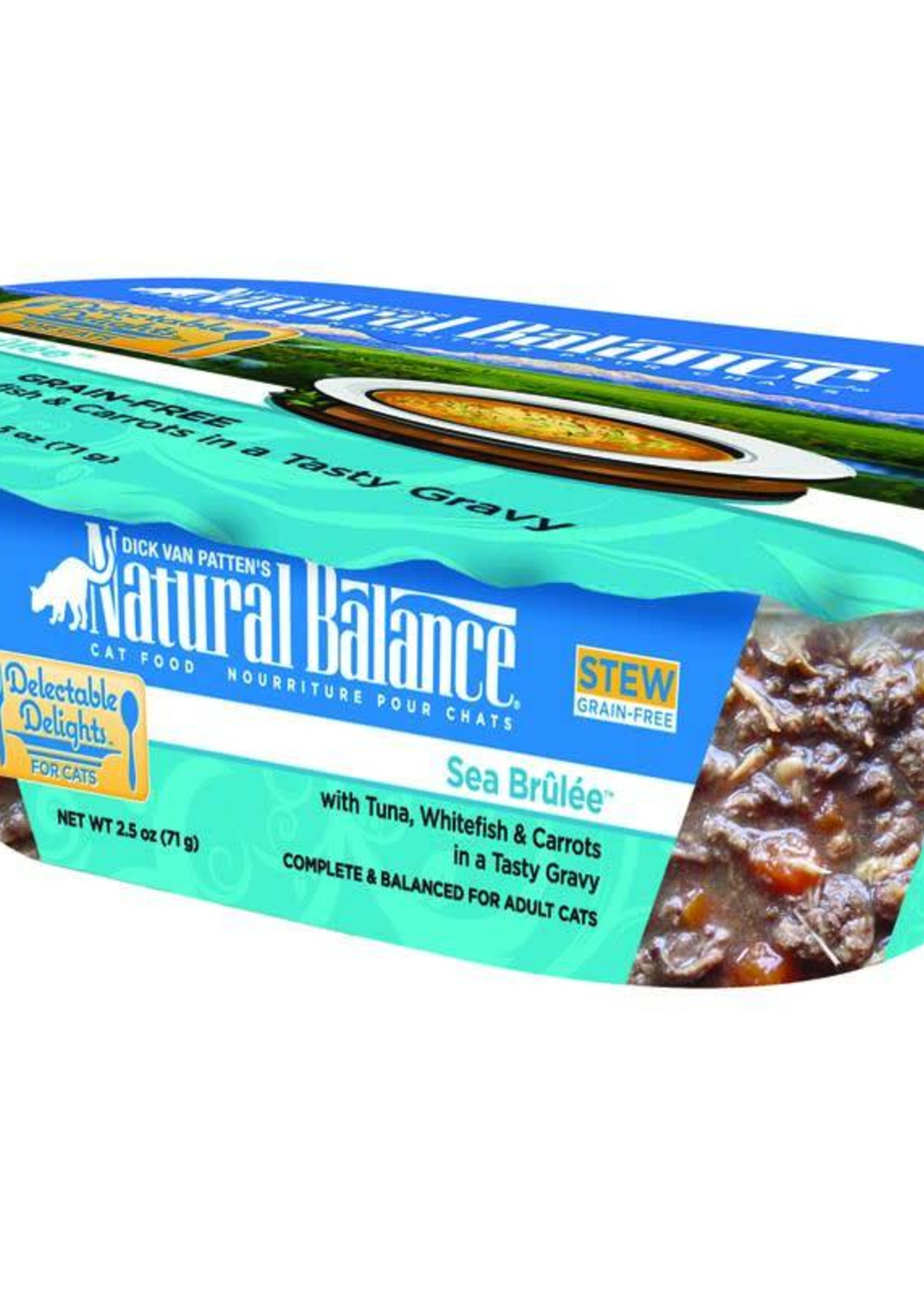 Natural Balance Pet Foods, Inc. Natural Balance Delectable Delights Sea Brûlée Stew Fel 2.5oz