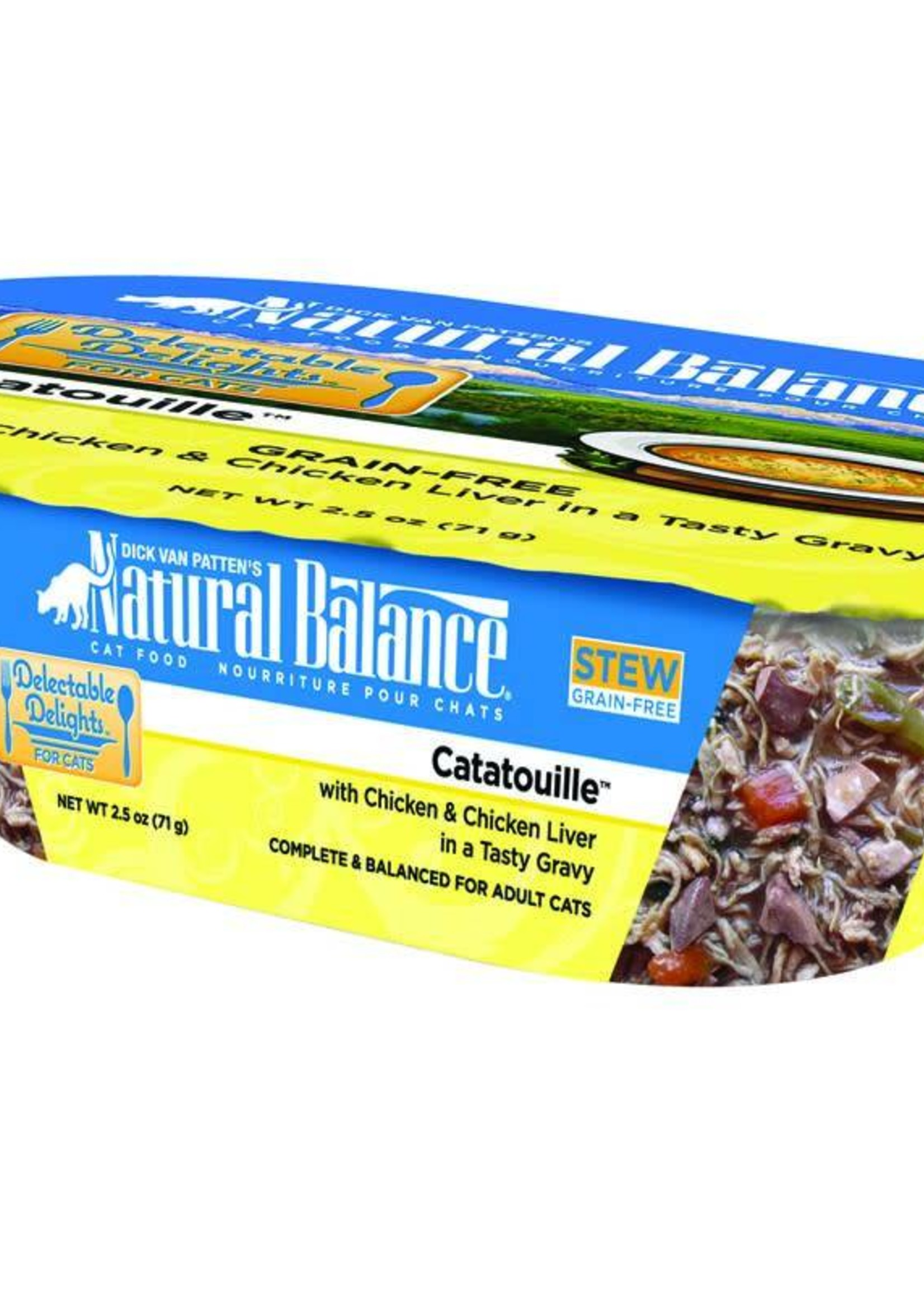 Natural Balance Pet Foods, Inc. Natural Balance Delectable Delights Catatouille Cat  2.5oz