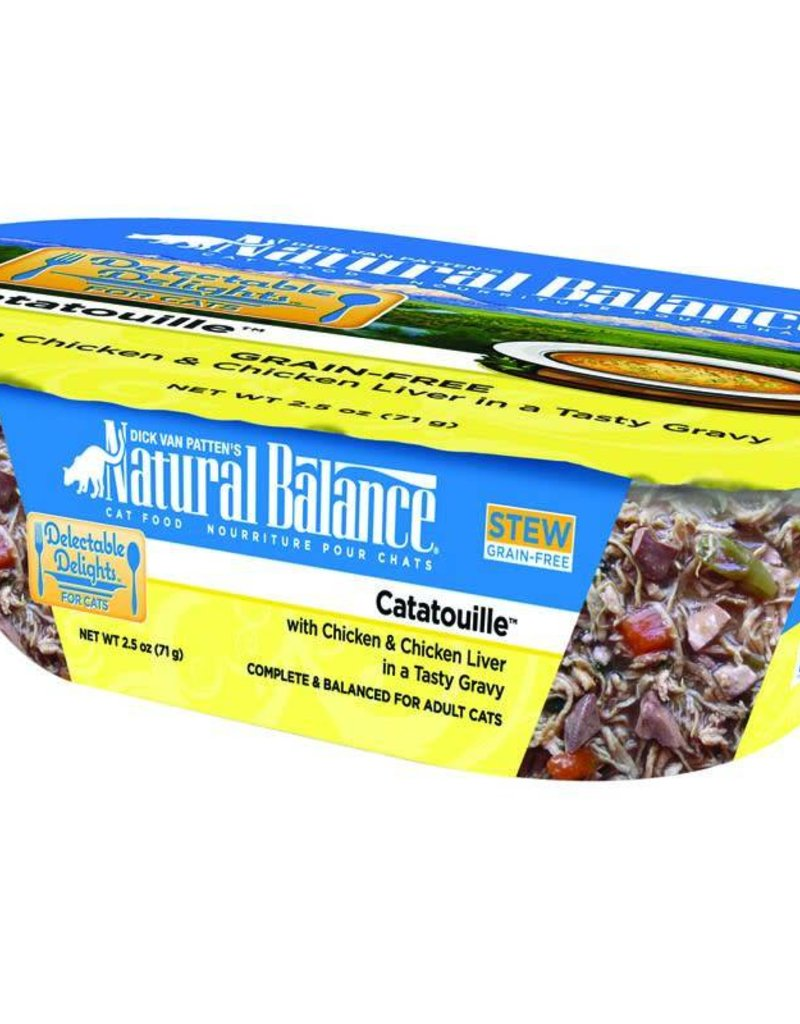 Natural Balance Pet Foods, Inc. Natural Balance Delectable Delights Catatouille Cat  2.5oz
