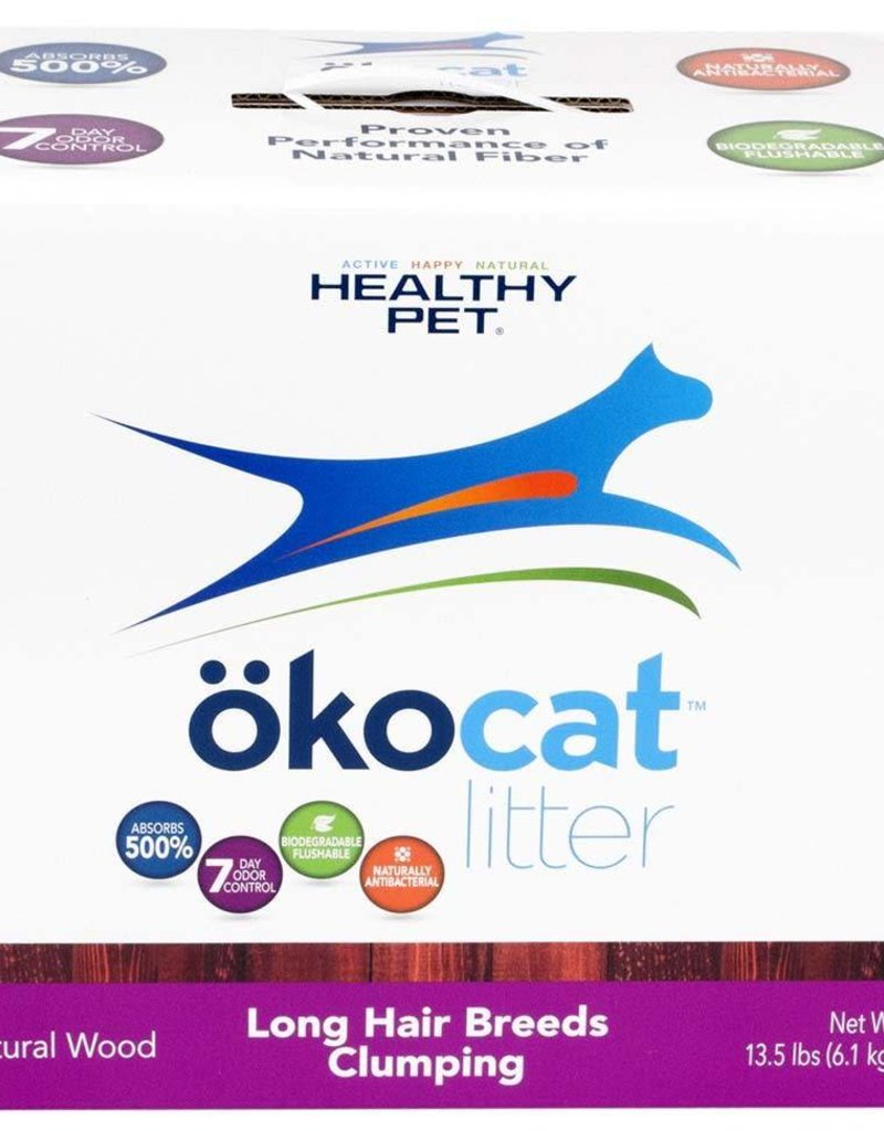HEALTHY PET Okocat PURPLE Wood Long Hair Breeds Clumping 20#