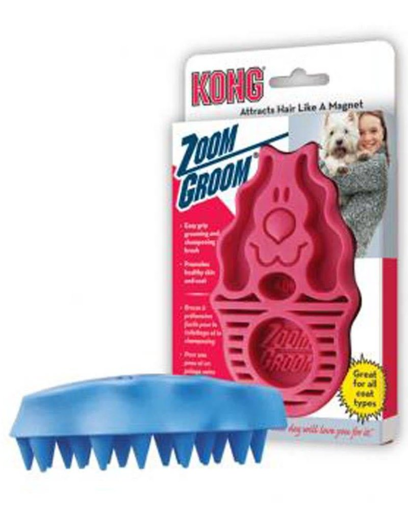 The Kong Company Kong Zoom Groom Raspberry Regular
