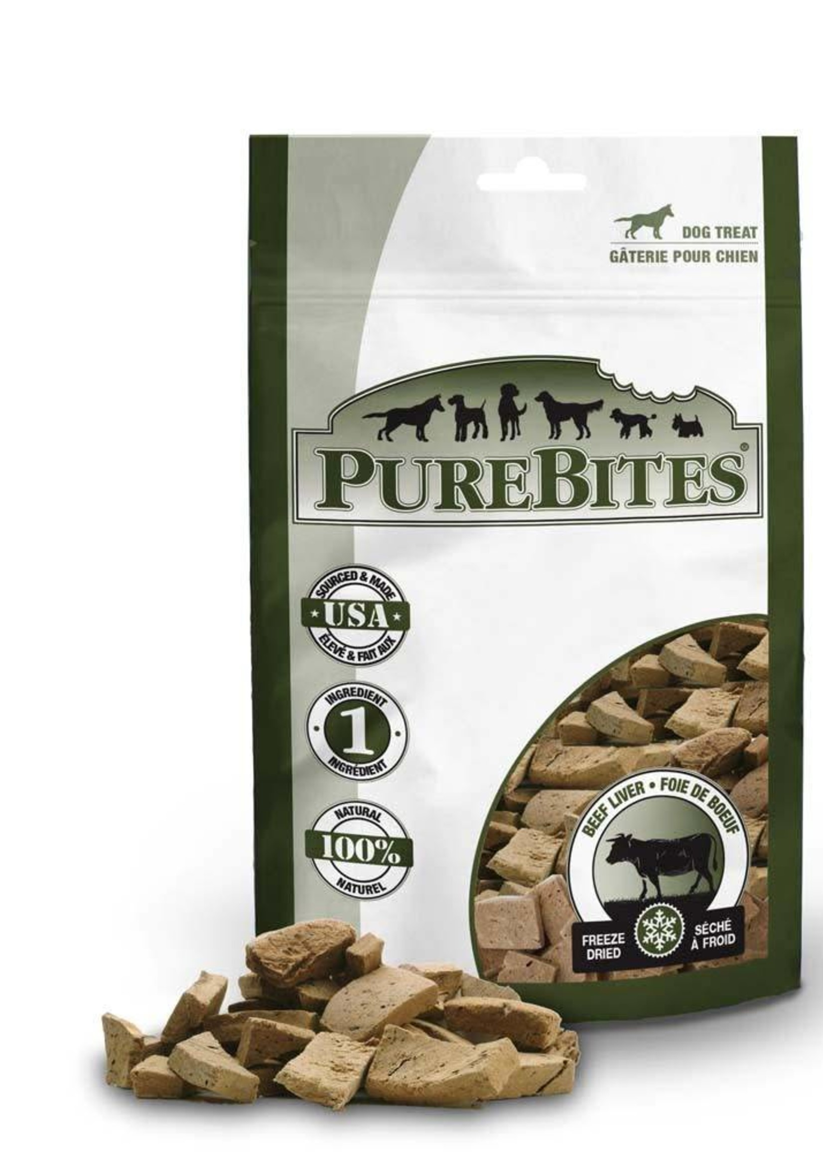 PUREBITES PureBites 100% USDA Freeze Dried Beef Liver Treats K9 16.5oz