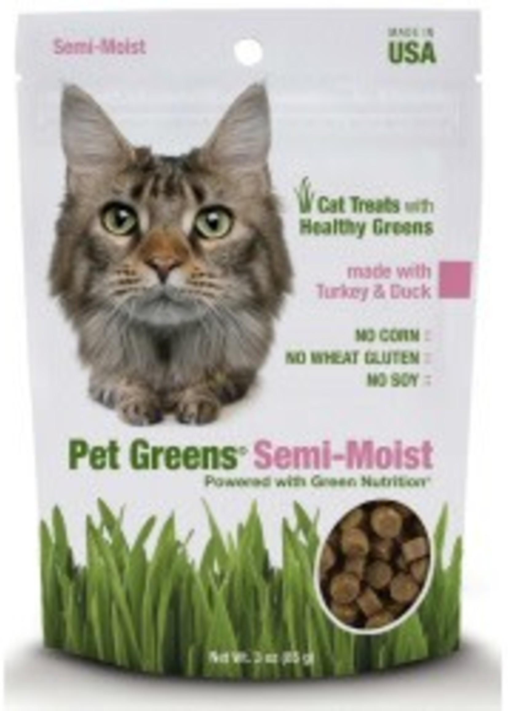 BELLROCK GROWERS INC Pet Greens Semi-moist Turkey & Duck 3oz