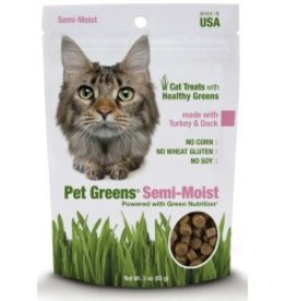 BELLROCK GROWERS INC Pet Greens Semi-moist Turkey & Duck 3oz