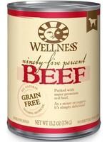 Wellpet LLC Wellness GF 95% Beef K9 13.2oz