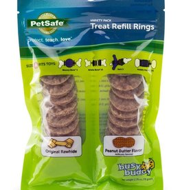 PetSafe Busy Buddy Peanut Butter and Rawhide Rings Small