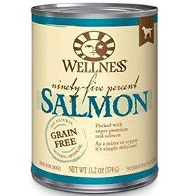 Wellpet LLC Wellness Dog GF 95% Salmon K9 13.2oz