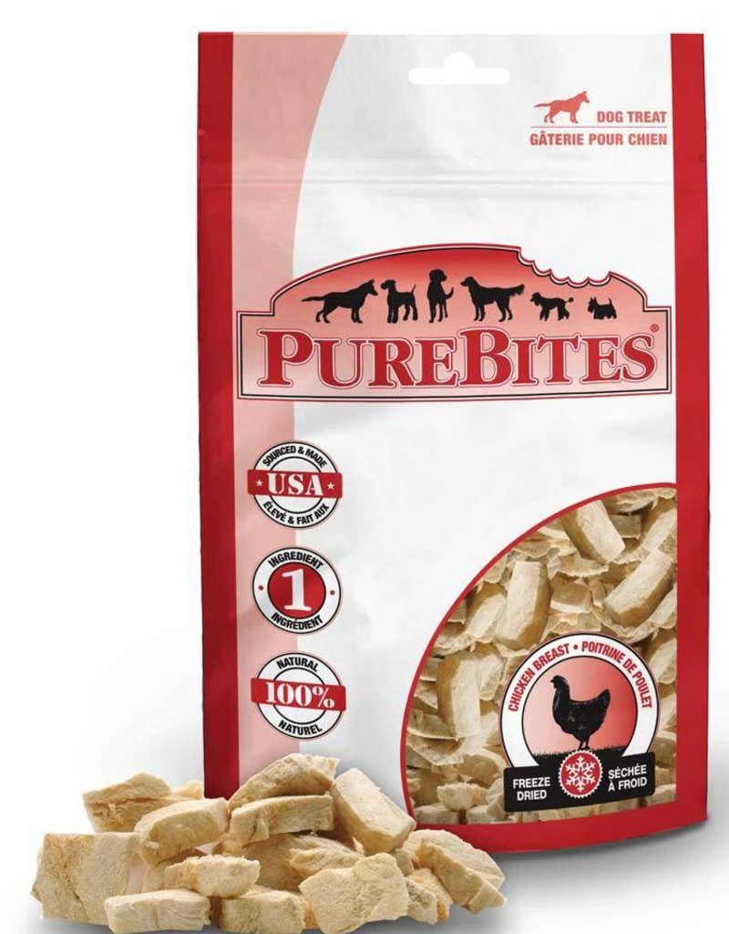 PUREBITES PureBites 100% USDA Freeze Dried Chicken Breast Dog Treats 1.4oz