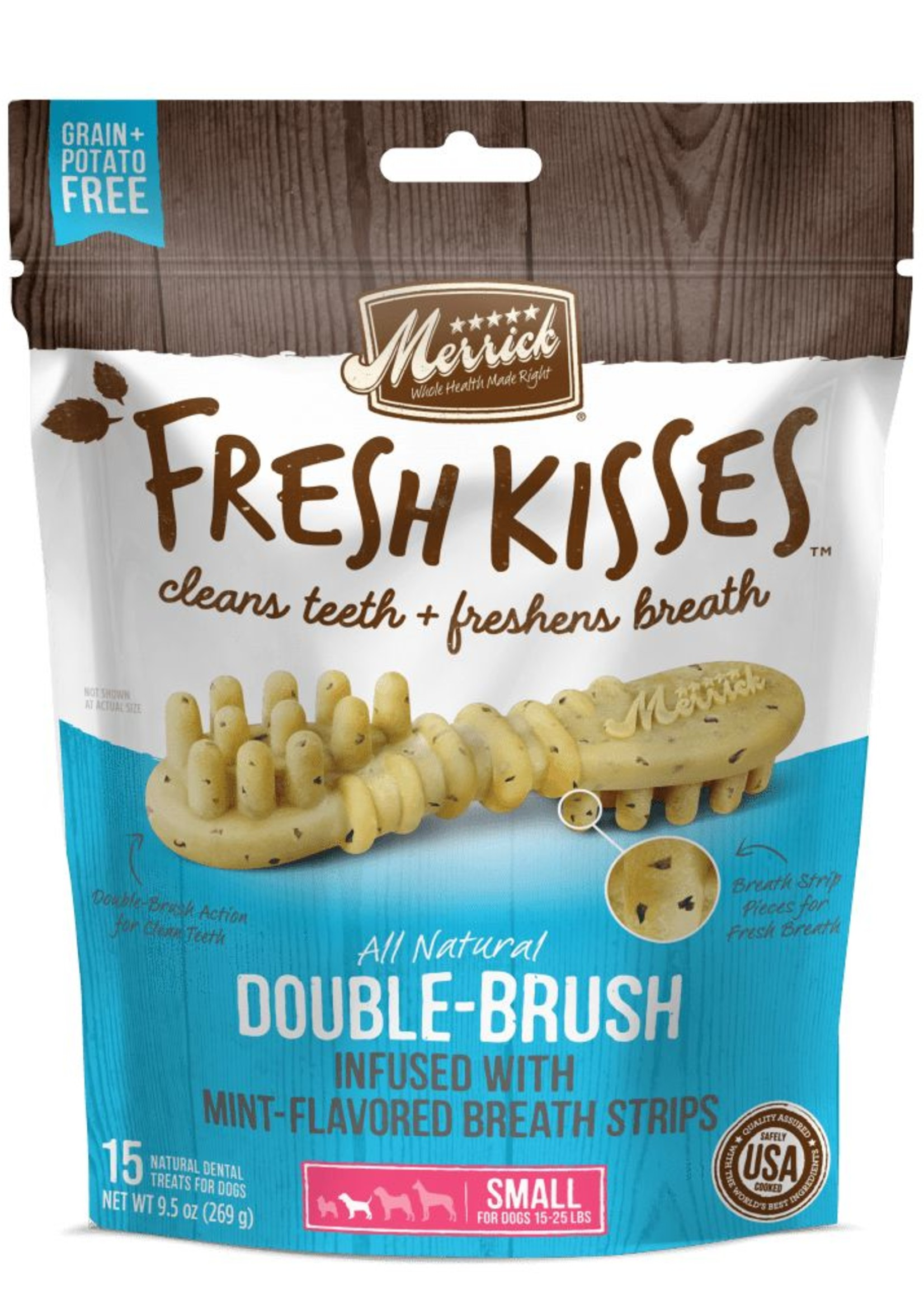 Merrick Pet Care, Inc. Merrick Fresh Kisses Mint-Flavored Breath Strips Small 9ct