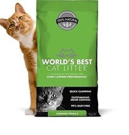 GRAIN PROCESSING CORPORATION World's Best Clumping Litter Formula 28lb Green