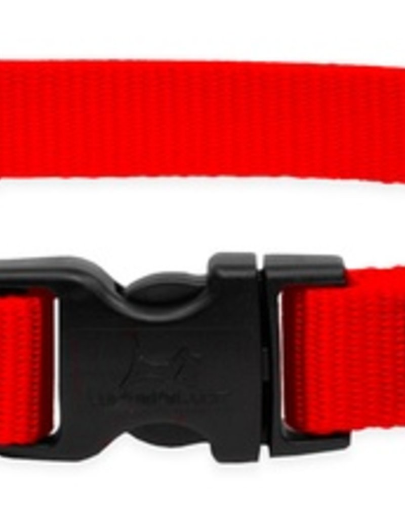 "LupinePet Lupine 1/2"" Red 10""-16"" Adj. Collar"