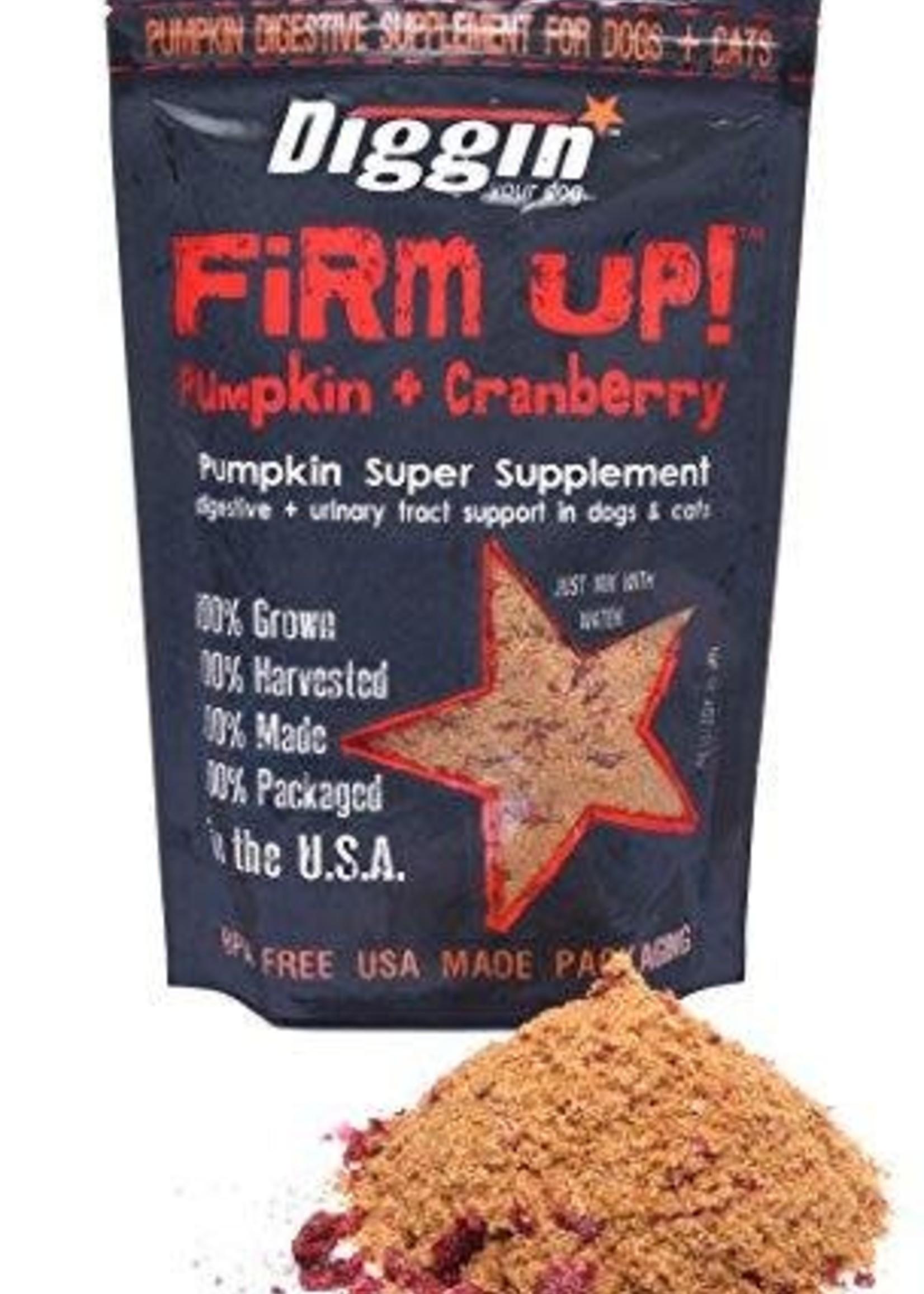Diggin Your Dog Diggin Firm Up Pumpkin + Cranberry K9/Fel 4oz