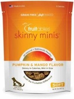 VETSCIENCE LLC / FRUITABLES Fruitables Skinny Minis Dog Treats Pumpkin and Mango, 5 Oz