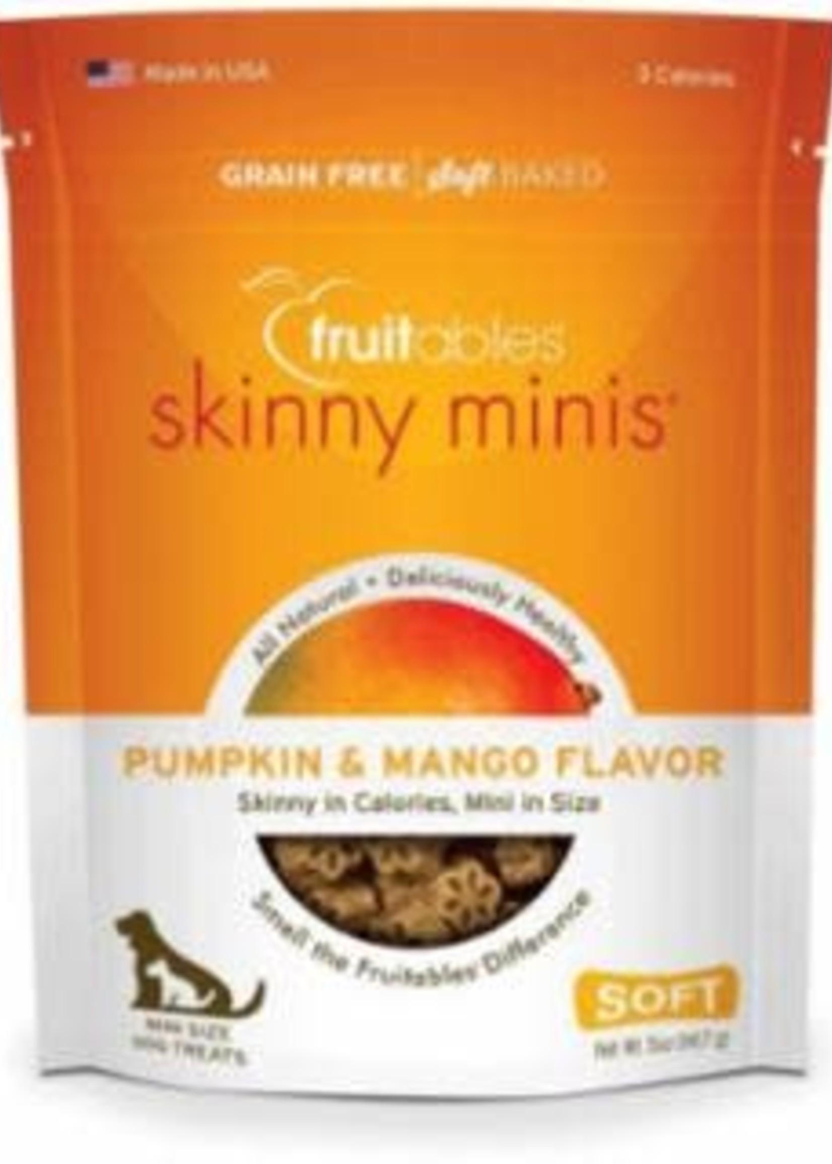 VETSCIENCE LLC / FRUITABLES Fruitables Skinny Minis Dog Treats Pumpkin and Mango, 5 Oz