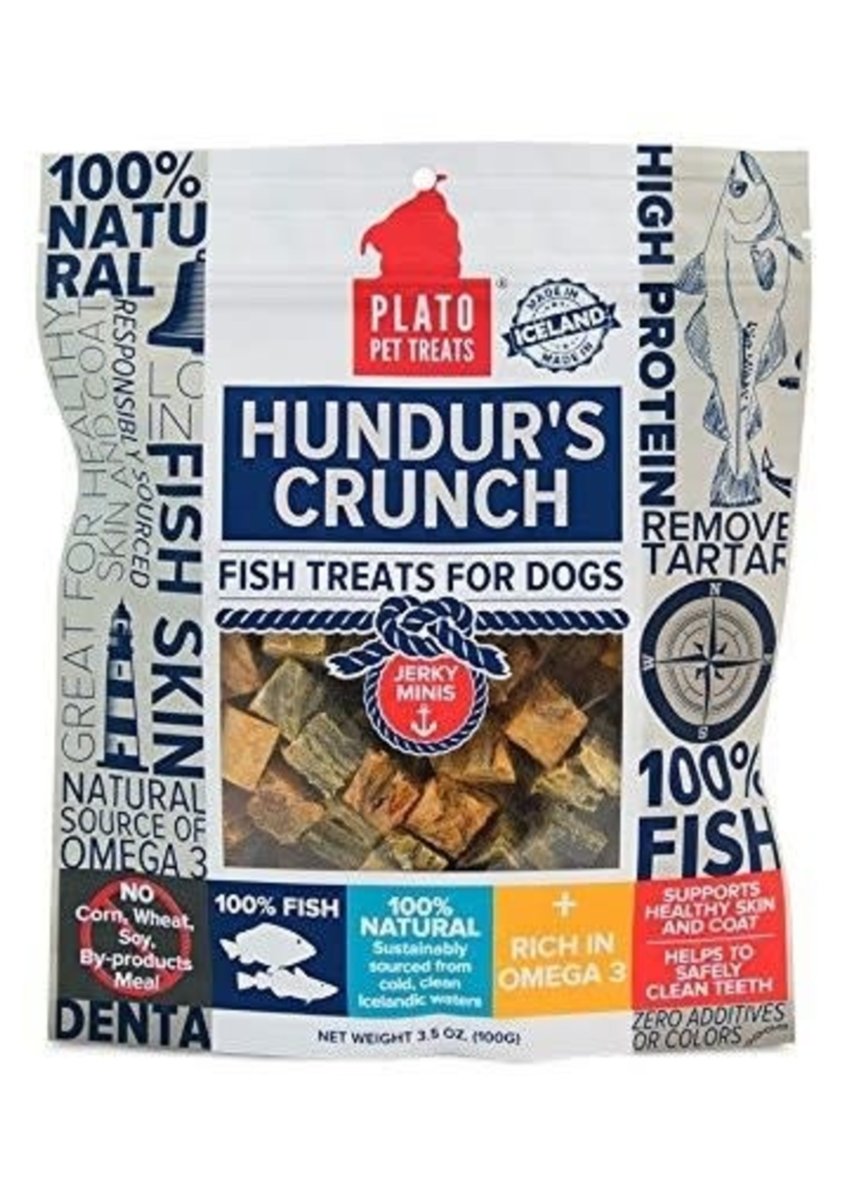Plato Pet Treats - KDR Plato Hundur's Crunch K9 Fish Jerky Minis Treats