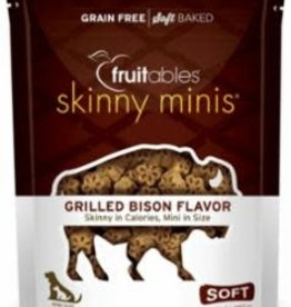 Fruitables Fruitables Skinny Minis Grilled Bison Flavor Chewy Dog Treats