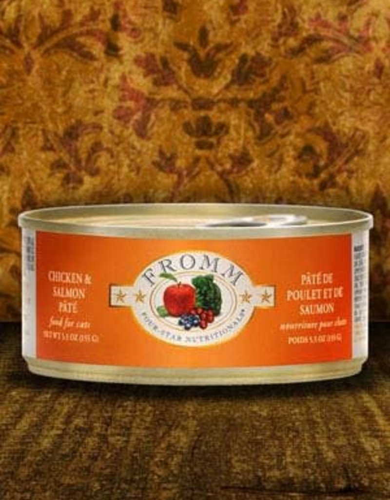 Fromm Family Foods, LLC Fromm Cat Can 4 Star Chicken and Salmon Pate 5.5 oz
