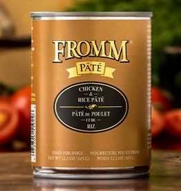 Fromm Family Foods, LLC Fromm Dog Can Pate Chicken and Rice 12.2 oz